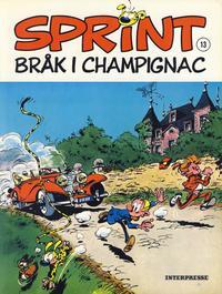 Cover Thumbnail for Sprint [Sprint & Co.] (Interpresse, 1977 series) #13 - Bråk i Champignac