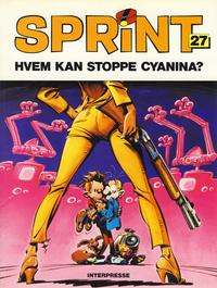 Cover Thumbnail for Sprint [Sprint & Co.] (Interpresse, 1977 series) #27 - Hvem kan stoppe Cyanina?