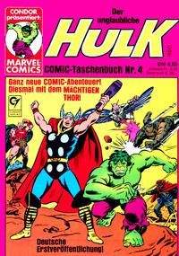 Cover Thumbnail for Der unglaubliche Hulk (Condor, 1980 series) #4