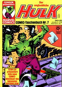 Cover Thumbnail for Der unglaubliche Hulk (Condor, 1980 series) #7