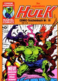 Cover Thumbnail for Der unglaubliche Hulk (Condor, 1980 series) #18