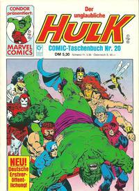Cover Thumbnail for Der unglaubliche Hulk (Condor, 1980 series) #20