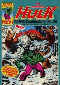 Cover Thumbnail for Der unglaubliche Hulk (Condor, 1980 series) #24