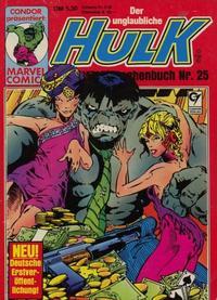 Cover Thumbnail for Der unglaubliche Hulk (Condor, 1980 series) #25