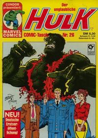 Cover Thumbnail for Der unglaubliche Hulk (Condor, 1980 series) #26