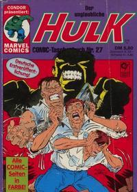 Cover Thumbnail for Der unglaubliche Hulk (Condor, 1980 series) #27