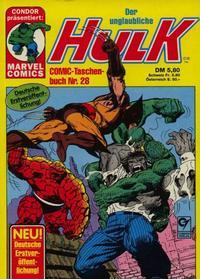 Cover Thumbnail for Der unglaubliche Hulk (Condor, 1980 series) #28