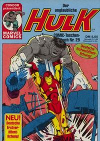 Cover Thumbnail for Der unglaubliche Hulk (Condor, 1980 series) #29
