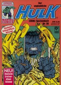 Cover Thumbnail for Der unglaubliche Hulk (Condor, 1980 series) #30