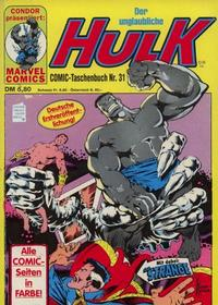 Cover Thumbnail for Der unglaubliche Hulk (Condor, 1980 series) #31