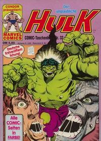 Cover Thumbnail for Der unglaubliche Hulk (Condor, 1980 series) #32