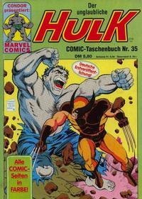 Cover Thumbnail for Der unglaubliche Hulk (Condor, 1980 series) #35