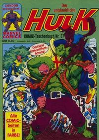 Cover Thumbnail for Der unglaubliche Hulk (Condor, 1980 series) #37