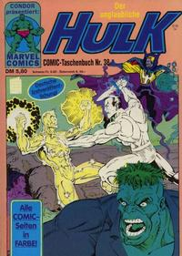 Cover Thumbnail for Der unglaubliche Hulk (Condor, 1980 series) #38
