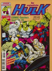 Cover Thumbnail for Der unglaubliche Hulk (Condor, 1980 series) #45