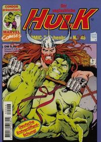 Cover Thumbnail for Der unglaubliche Hulk (Condor, 1980 series) #46