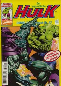Cover Thumbnail for Der unglaubliche Hulk (Condor, 1980 series) #47