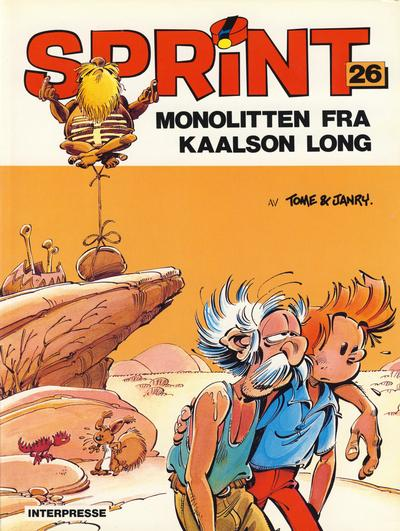 Cover for Sprint [Sprint & Co.] (Interpresse, 1977 series) #26 - Monolitten fra Kaalson Long