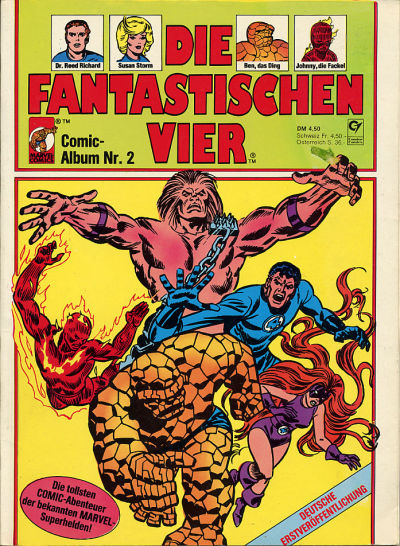 Cover for Die Fantastischen Vier (Condor, 1979 series) #2