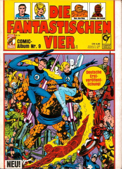 Cover for Die Fantastischen Vier (Condor, 1979 series) #9