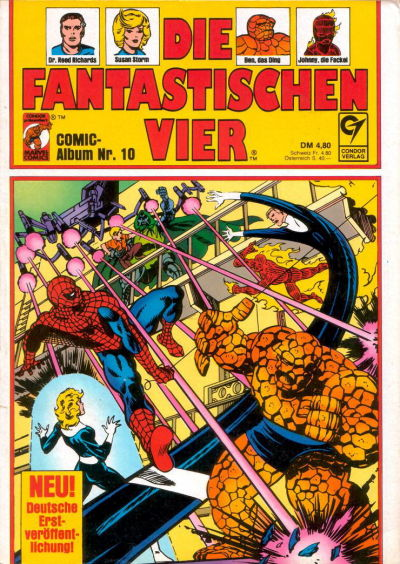Cover for Die Fantastischen Vier (Condor, 1979 series) #10
