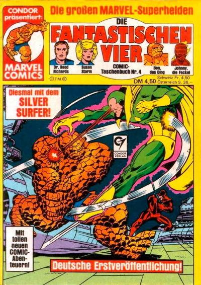 Cover for Die Fantastischen Vier (Condor, 1979 series) #4