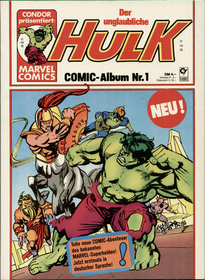 Cover for Hulk (Condor, 1979 series) #1