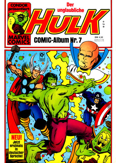 Cover for Hulk (Condor, 1979 series) #7