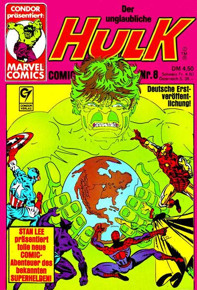 Cover for Der unglaubliche Hulk (Condor, 1980 series) #8