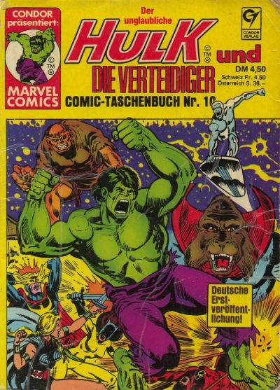 Cover for Der unglaubliche Hulk (Condor, 1980 series) #10