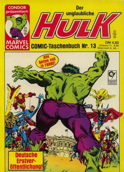 Cover for Der unglaubliche Hulk (Condor, 1980 series) #13