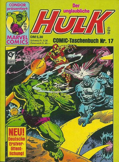 Cover for Der unglaubliche Hulk (Condor, 1980 series) #17