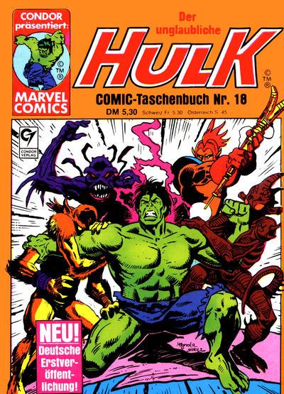 Cover for Der unglaubliche Hulk (Condor, 1980 series) #18