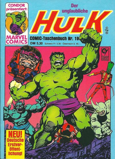 Cover for Der unglaubliche Hulk (Condor, 1980 series) #19