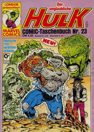 Cover for Der unglaubliche Hulk (Condor, 1980 series) #23