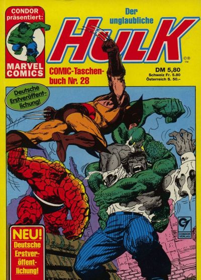 Cover for Der unglaubliche Hulk (Condor, 1980 series) #28