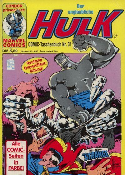 Cover for Der unglaubliche Hulk (Condor, 1980 series) #31