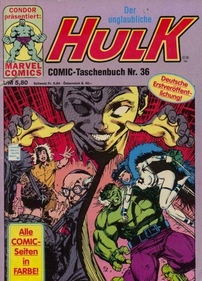 Cover for Der unglaubliche Hulk (Condor, 1980 series) #36