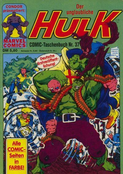 Cover for Der unglaubliche Hulk (Condor, 1980 series) #37