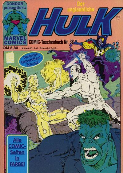 Cover for Der unglaubliche Hulk (Condor, 1980 series) #38