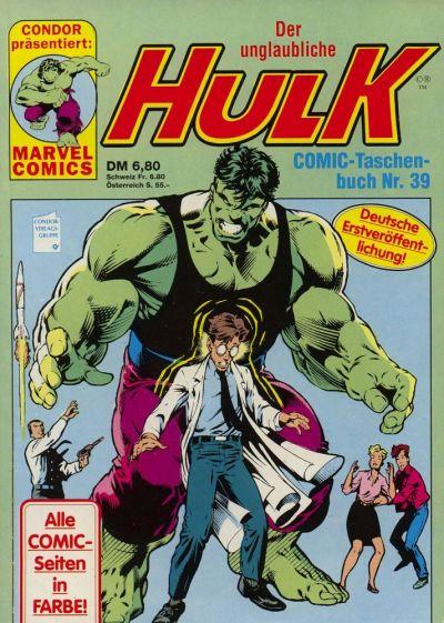 Cover for Der unglaubliche Hulk (Condor, 1980 series) #39