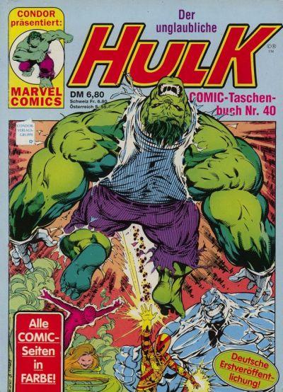 Cover for Der unglaubliche Hulk (Condor, 1980 series) #40