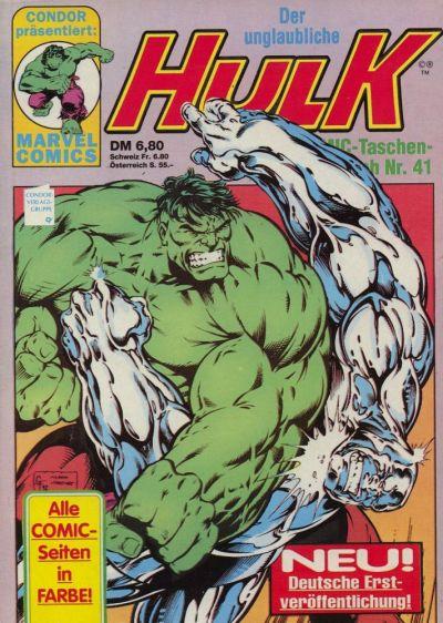 Cover for Der unglaubliche Hulk (Condor, 1980 series) #41