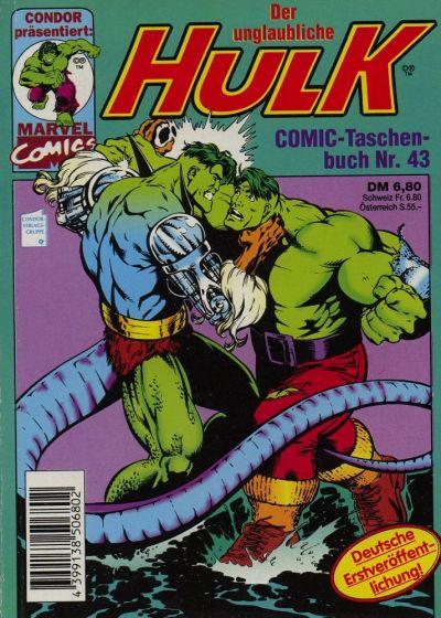 Cover for Der unglaubliche Hulk (Condor, 1980 series) #43