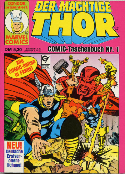 Cover for Thor (Condor, 1988 series) #1