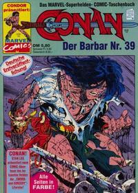 Cover Thumbnail for Conan (Condor, 1979 series) #39