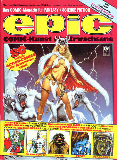 Cover for Epic (Condor, 1983 series) #1