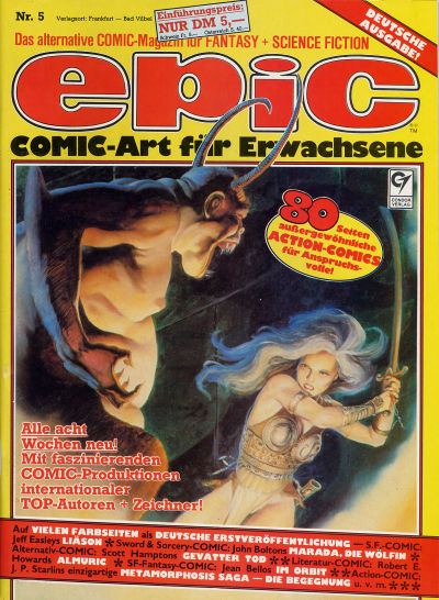 Cover for Epic (Condor, 1983 series) #5