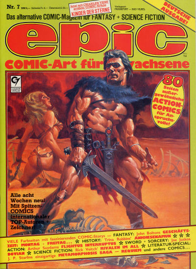 Cover for Epic (Condor, 1983 series) #7
