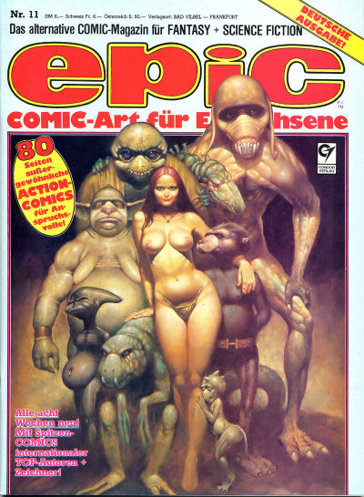 Cover for Epic (Condor, 1983 series) #11